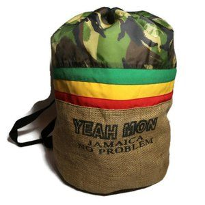 Duffel Bag Backpack Jamaica Rasta